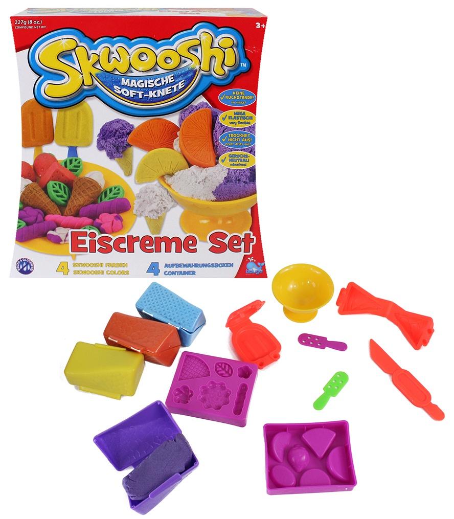 Beluga Skwooshi Soft-Knete Eiscreme-Set - Box ca 22,5x23x8,5