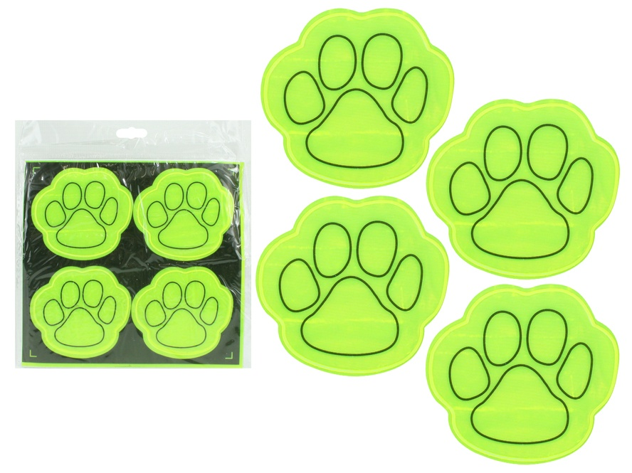 Sticker reflektierend Tatzendesign 4 Stück - ca 6,5x6cm
