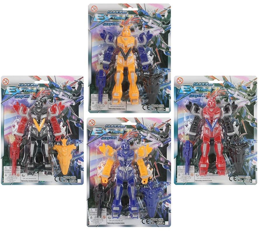 Roboter 4 fach sortiert - auf Karte ca 21x16,5cm