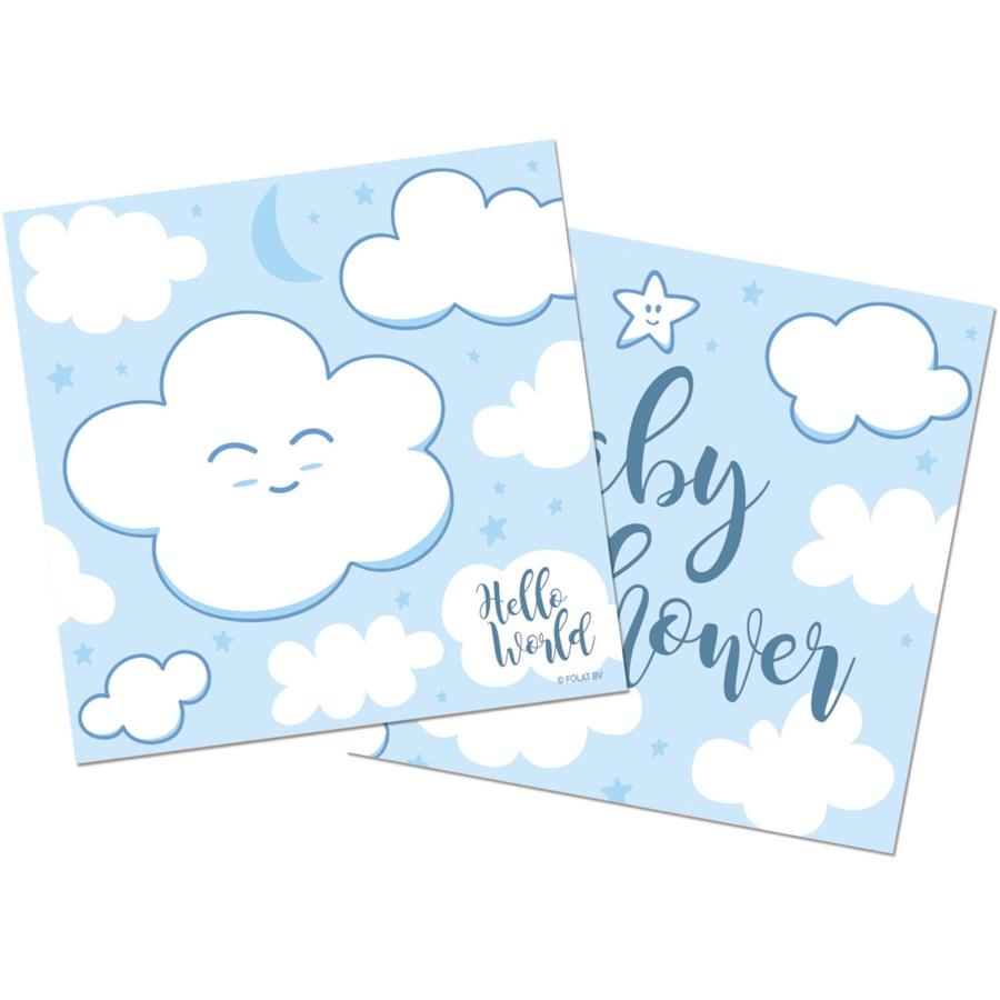Serviette Baby Shower hellblau ca 25x25 cm/20 Stück im Pack