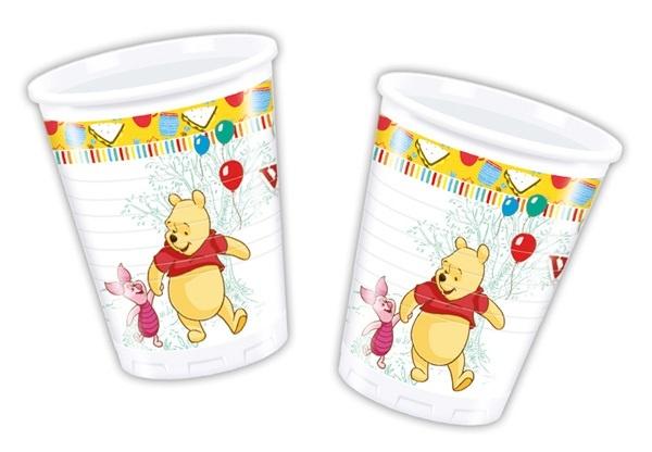 Becher ,Winnie the Pooh, 8 Stück - ca 200 ml