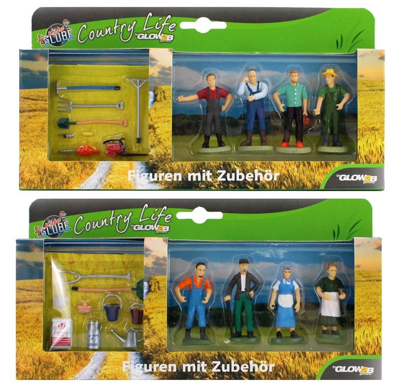 Glow2B - Bauernhof Figuren mit Zubehör 2-fach sortiert 1:32
