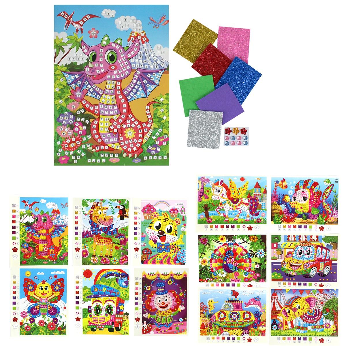 Mosaikbildchen DIY mehrfach sortiert - ca 25,5x18,5cm