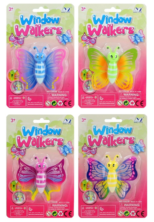 Fensterkletterer Schmetterling 4-fach sortiert