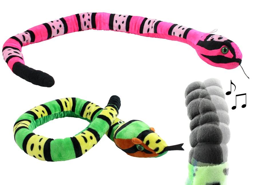 Klapperschlange blau und pink sortiert ca 135 cm