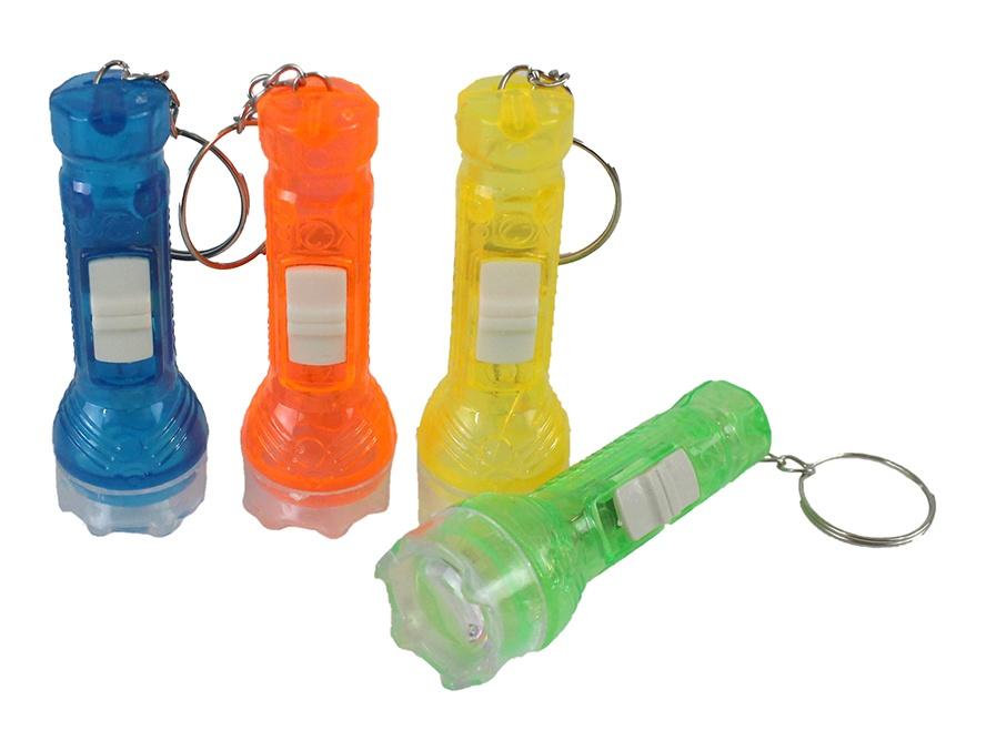 Taschenlampe an Schlüsselanhänger 4 Farben sortiert