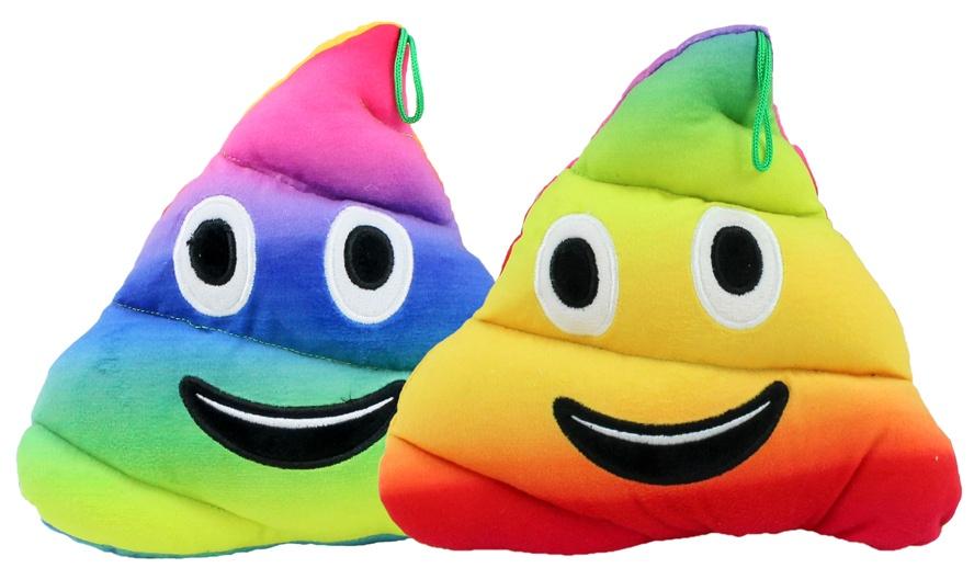 Plüsch Haufen regenbogenfarbig ca 22x20 cm