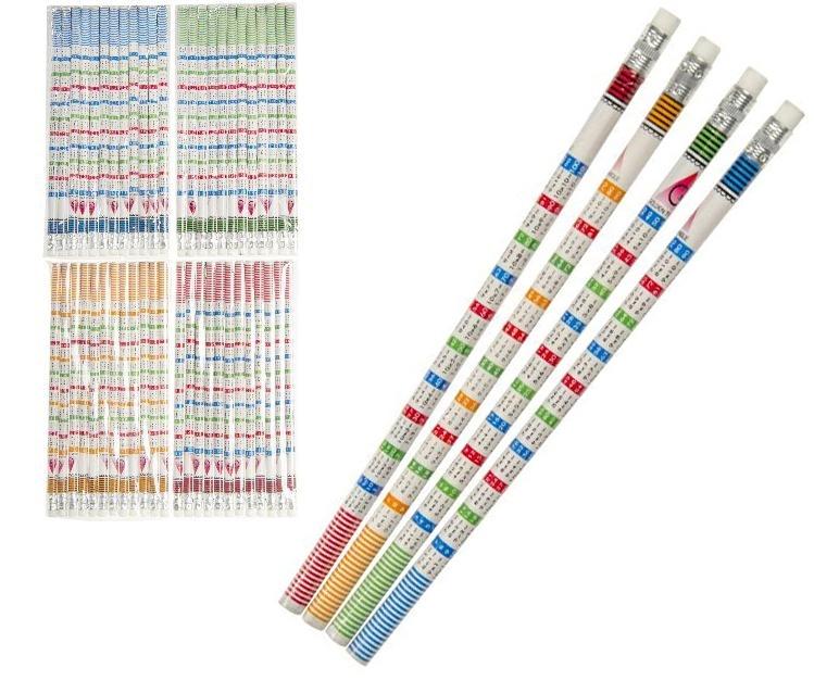 Bleistift Rechenbleistift - 4fach sortiert ca 19cm