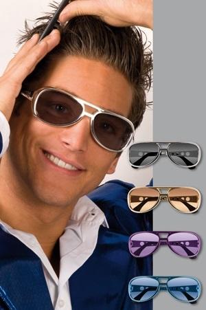Brille - Partybrille Rock n Roll silber