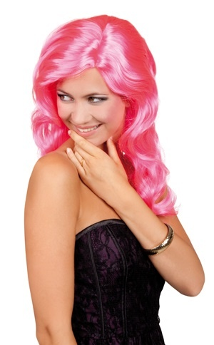 Perücke - Celebrity NEON pink