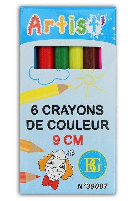 Buntstifte- 6 Stück farbig sortiert