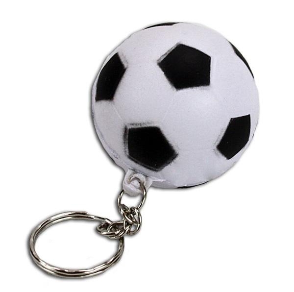 Fußball an Schlüsselanhänger - ca 4 cm