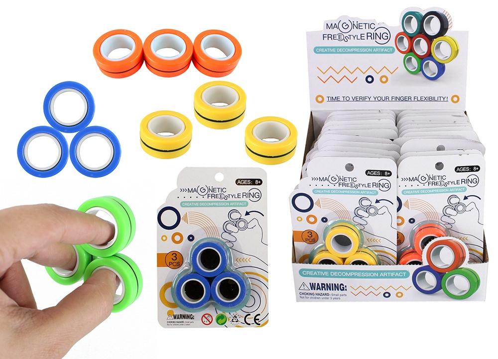 Magnetringe Antistress Magnetringe 4-farbig sortiert