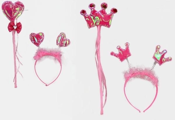 Krone und Herz  mit Zauberstab 2-fach sortiert