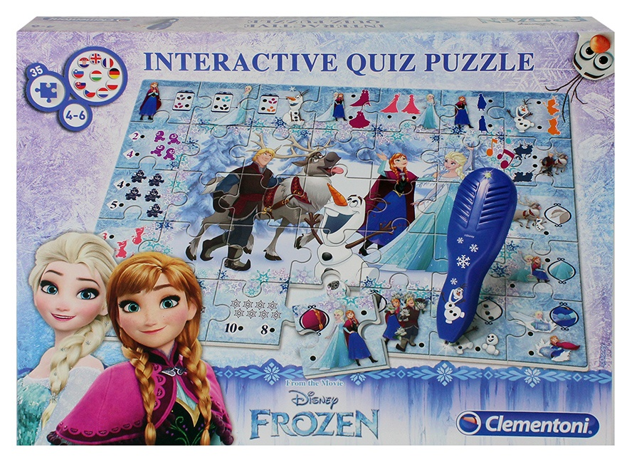 Clementoni Puzzle Disney Frozen Interactives Quiz Puzzle