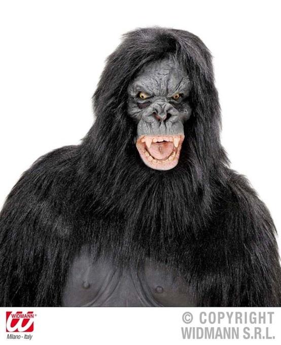 Maske - Gorilla mit Plüschhaar