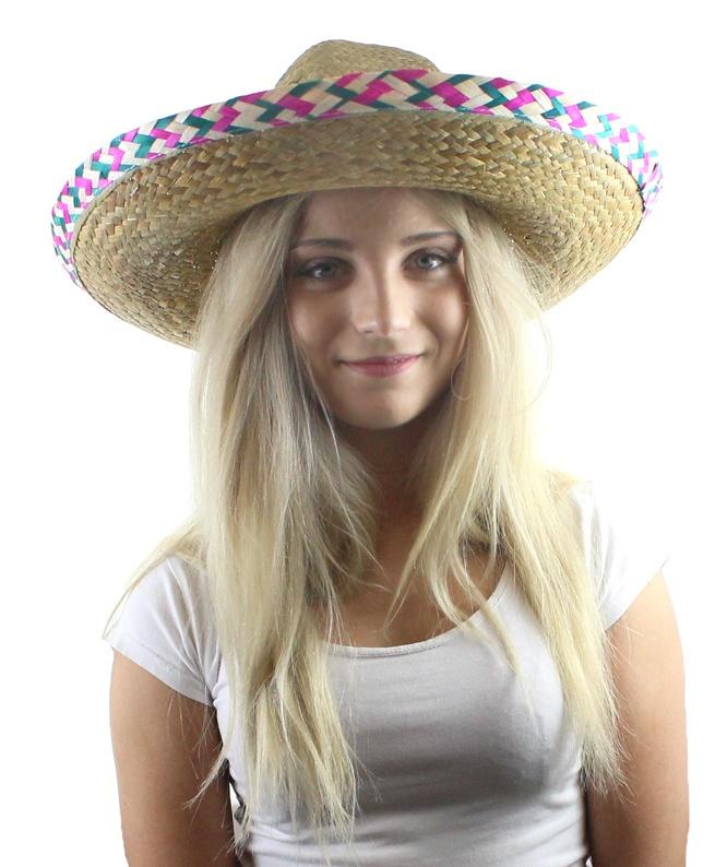 Sombrero aus Stroh Durchmesser ca 45 cm