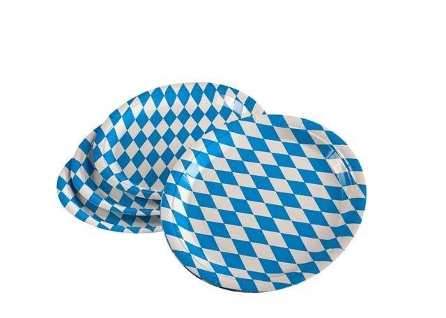 Teller - Oktoberfest bayerische Raute 10 Stk - ca 23cm