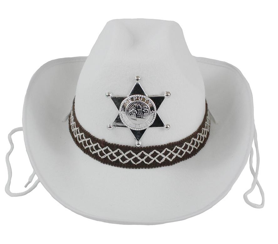 Cowboyhut weiß für Kinder