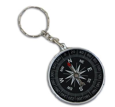Kompass an Schlüsselanhänger - Durchmesser ca 4,5 cm