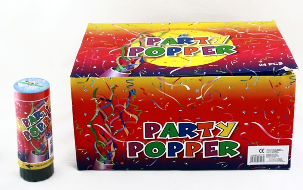 Party Popper ca 110 x 40 mm- im Display verpackt