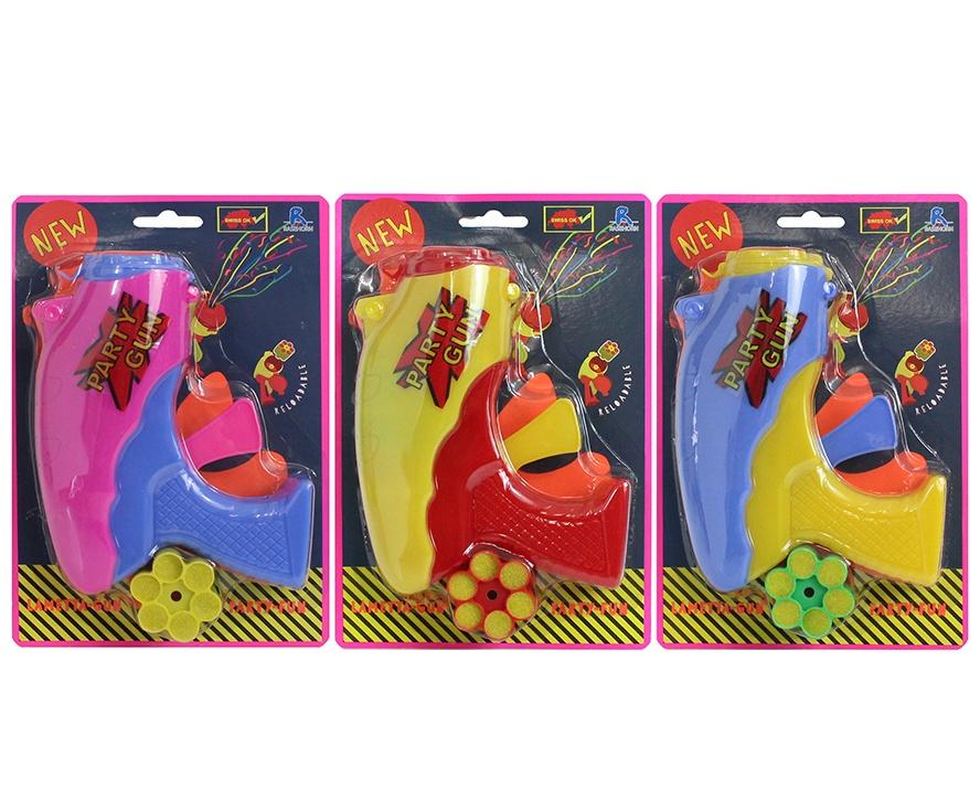 Lamettapistole 3 farbig sortiert - ca 16cm
