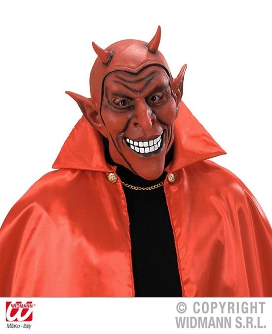 Maske - roter lachender Teufel-