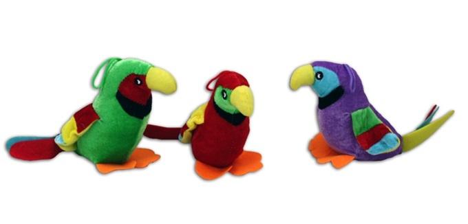 Papagei 3-fach sortiert - ca 25 cm