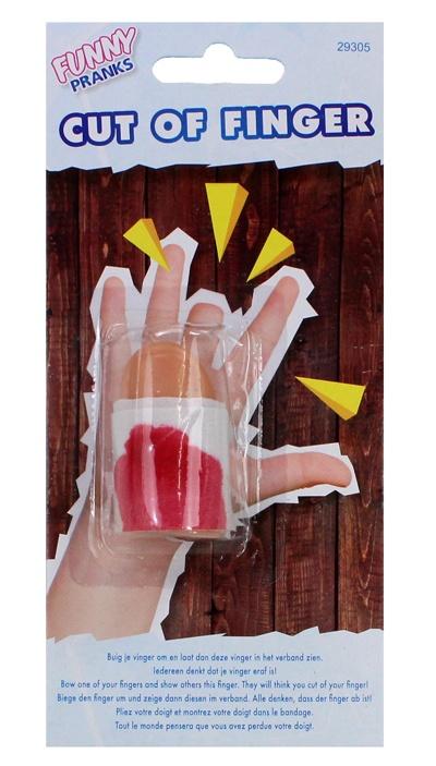 abgehackter Finger auf Karte ca 17x8cm