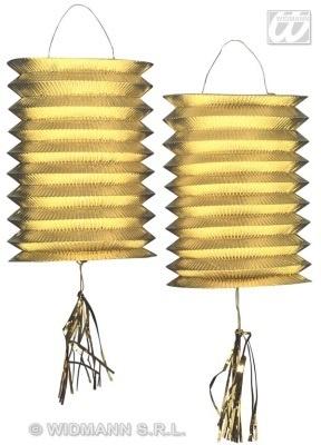 Laterne - Zuglaterne metallic gold 2 Stück - je ca 25cm