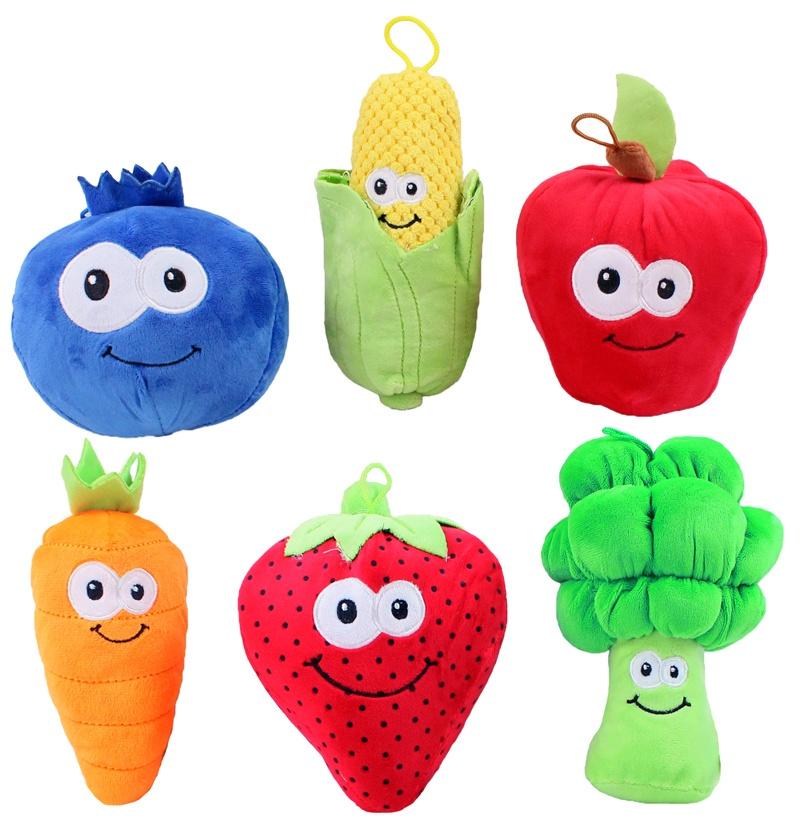 Früchte und Gemüse 6-fach sortiert ca 14-21 cm