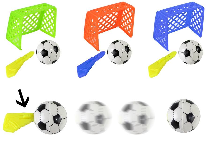 Fußballspiel mit Tor 3-farbig sortiert - ca 6x5cm