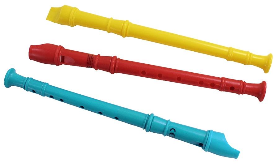 Blockflöte 3-fach sortiert ca 30 cm
