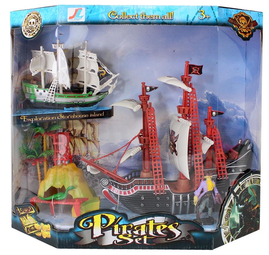Piratenset mit 2 Booten und Zubehör in Box ca 41x36x14cm