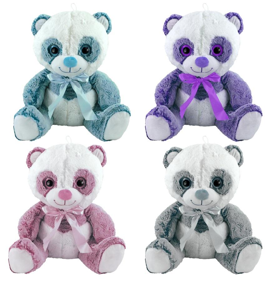 Panda Bär Brighty 4-fach sortiert - ca 45 cm