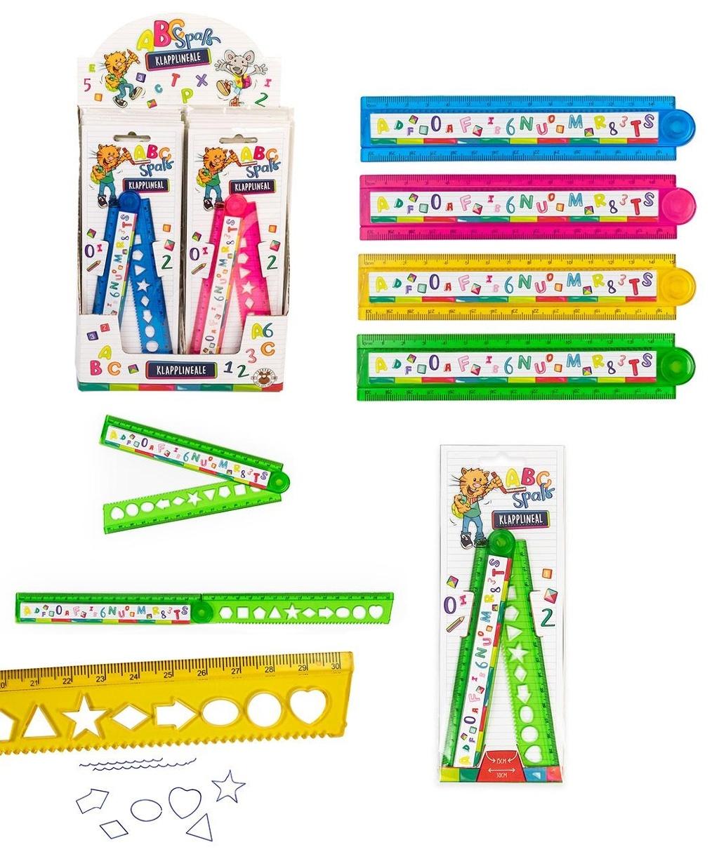 ABC SPASS Klapplineal 4 Farben sortiert 30cm/15 cm