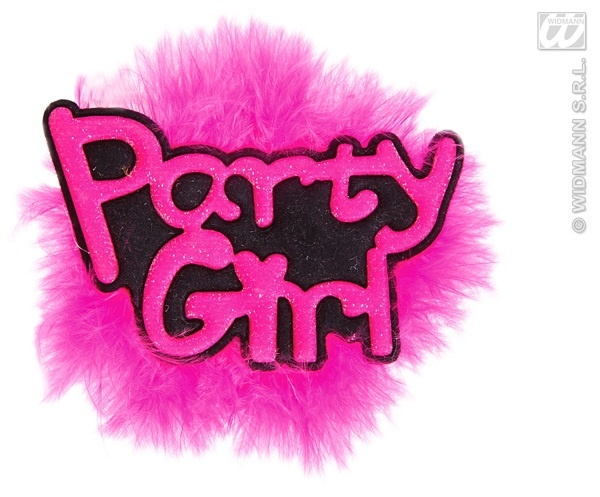 Brosche - Partybrosche Party Girl ca 9x8cm