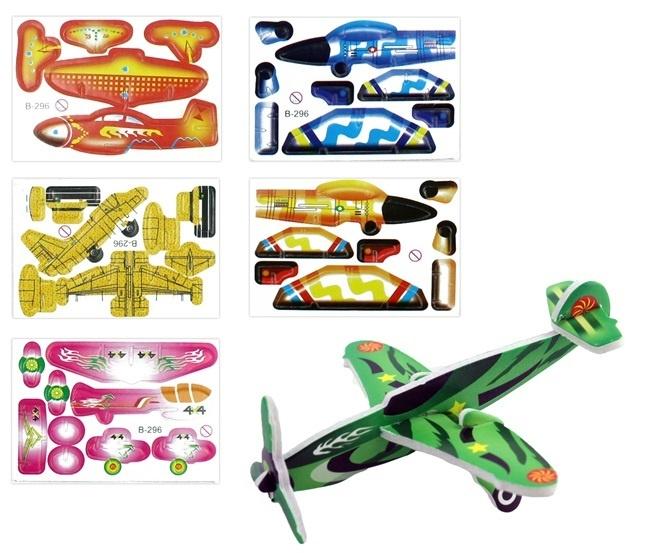 Flugzeuge 3D zusammenbaubar - Karte ca 8 x 6 cm