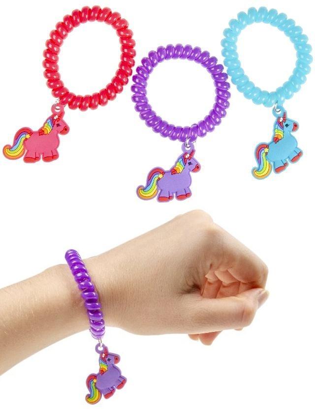 Armband Haarband mit Einhorn 3-fach sortiert - ca 5cm