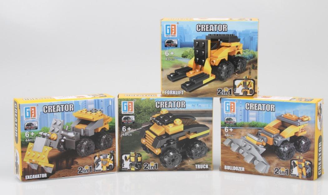 Bausatz 2-in-1 Bastellenfahrzeug/Roboter