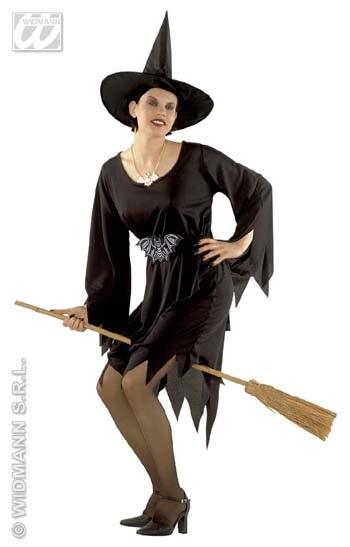 Kostüm - Hexe Crudelia (Kleid, Gürtel, Hut) Größe 165cm
