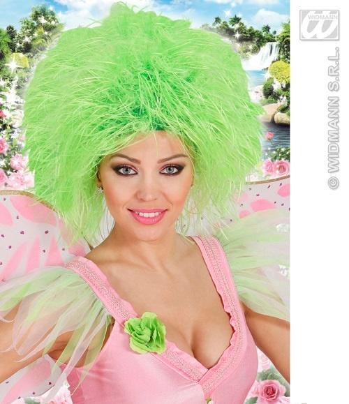 Perücke - Fairy - Fee neon grün
