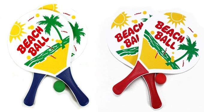 Beachballspiel 2-fach sortiert - ca 38x23cm