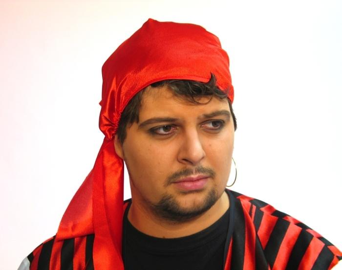 Piratenhaube, rot