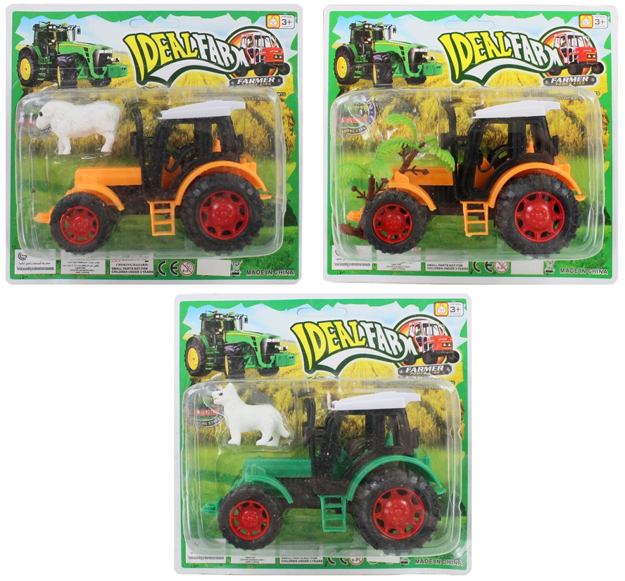 Traktor sortiert - auf   Blisterkarte ca 18x17cm