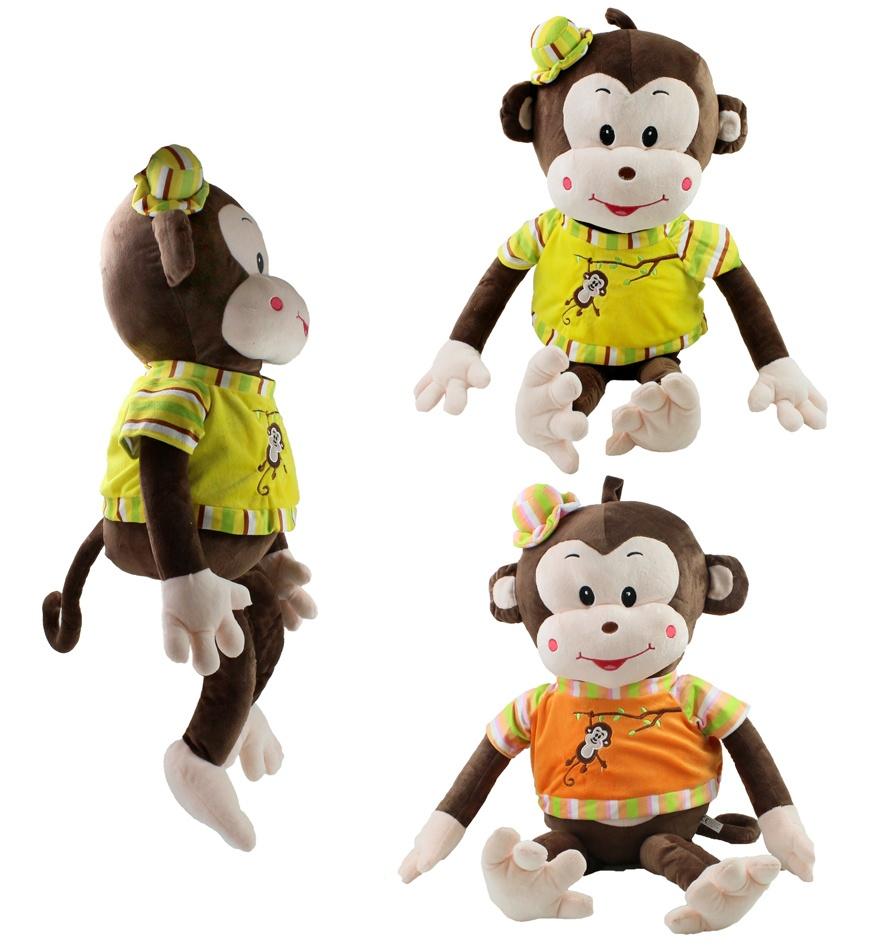 Affe mit Schlenkerbeinen 2-fach sortiert ca 80/50 cm