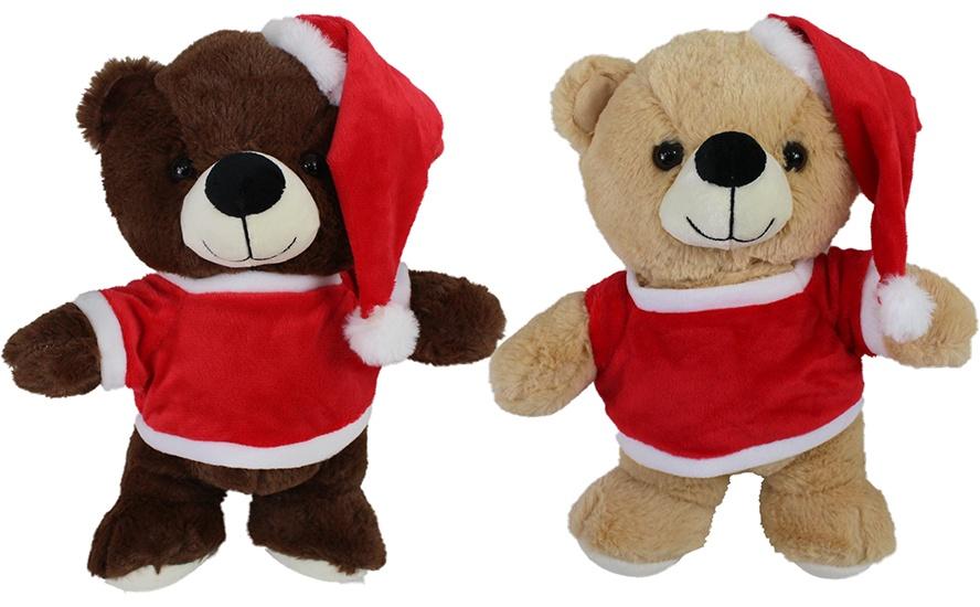Weihnachtsbär 2-fach sortiert mit Pullover stehend ca 32 cm