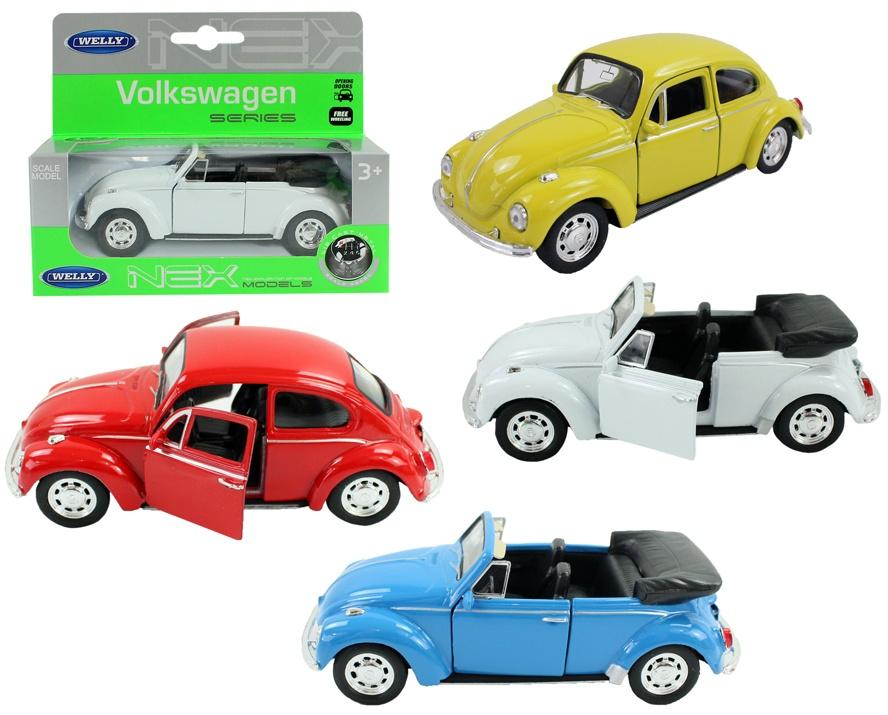 WELLY Volkswagen Beetle/Beetle Cabrio 4-fach sortiert