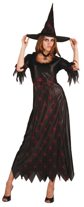 Kostüm - Hexenkostüm Skull Totenkopf Größe M