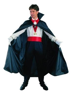 Kostüm Vampire Cape schwarz ca. 120 cm